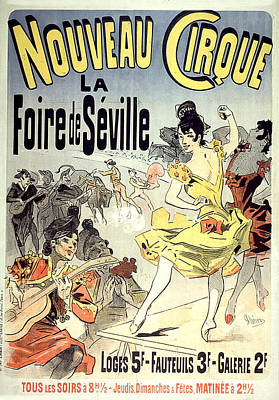 Painting - Nouveau Cirque Vintage French Advertising by Vintage French Advertising