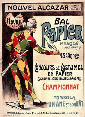 Painting - Nouvel Alcazar 1908 Vintage French Advertising  by Vintage French Advertising