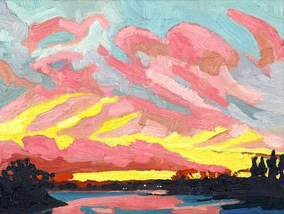 Painting - November 13 Sunset by Phil Chadwick
