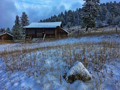 Photograph - November Cabin by Dan Miller