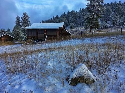 Photograph - November Cabin by Dan Miller