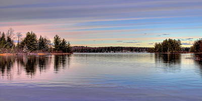 Photograph - November Clouds Over Dam Lake by Dale Kauzlaric