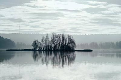 Jouko Lehto Royalty-Free and Rights-Managed Images - November Light. Silver clouds Silver light by Jouko Lehto