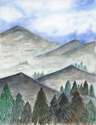 Painting - November Mountains by Betsy Hackett