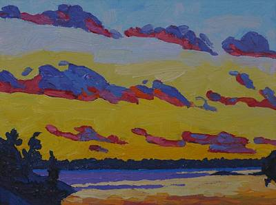 Painting - November Sunset Stratocumulus by Phil Chadwick