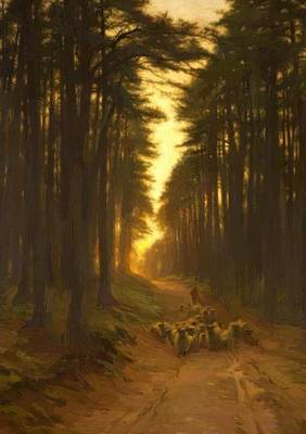 Joseph Farquharson Wall Art - Painting - Now Came Still Evening On 1905 by Farquharson Joseph
