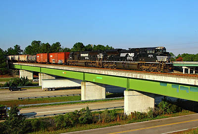 Photograph - Ns Over I-77 by Joseph C Hinson Photography