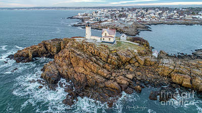 Photograph - Nubble Light Winter by Michael Hughes