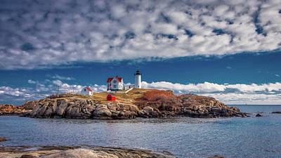 Photograph - Nubble Lighthouse 7492 by Guy Whiteley