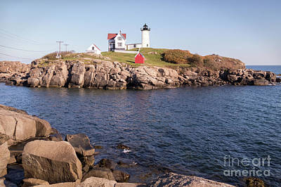 Photograph - Nubble Lighthouse Maine by Cheryl Del Toro