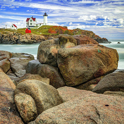 Antlers - Nubble Lighthouse - York Maine Seascape by Gregory Ballos