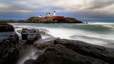 Photograph -  Nubble Lighthouse, York Me. by Michael Hubley