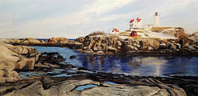 Painting - Nubble Winter by Susan E Hanna