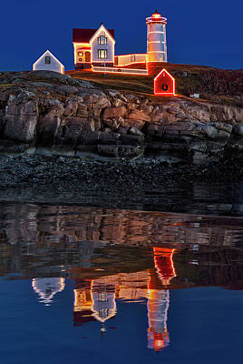 Photograph - Nubble Lighthouse Reflection by Susan Candelario
