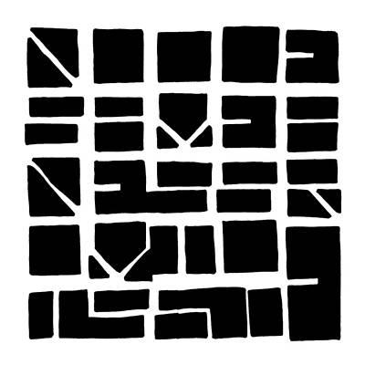 Nucle... Black Art Print