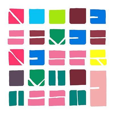 Nucle... Colour Art Print