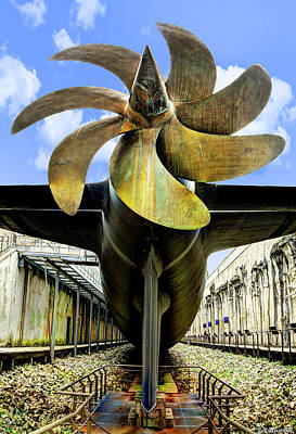 Photograph - Nuclear Submarine Propeller - Narrow by Weston Westmoreland