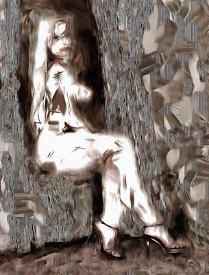 Digital Art - Nude Abstract by Mario Carini