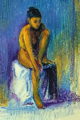 Drawing - Nude by Asha Sudhaker Shenoy