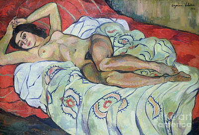 Painting - Nude Female Reclining, 1922 by Marie Clementine Valadon