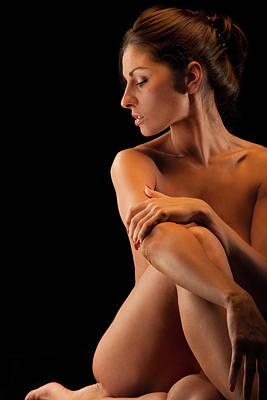 Naked Photograph - Nude Hispanic Woman by Peter Kindersley
