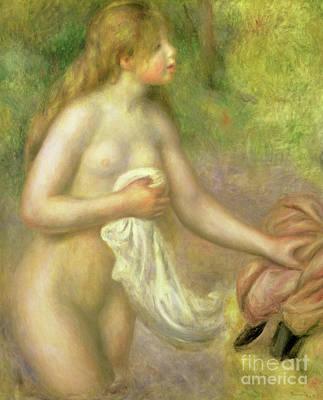Painting - Nude In Brook, 1895 by Pierre Auguste Renoir