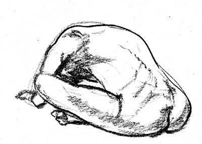 Drawing - Nude Male Gesture Xix by Irina Sztukowski