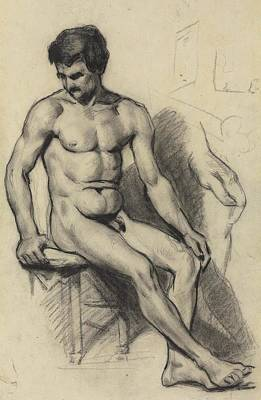 Target Threshold Photography - Nude Man 1865 67 by Paul Cezanne Paintings