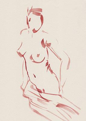 Painting - Nude Model Gesture Xliii by Irina Sztukowski