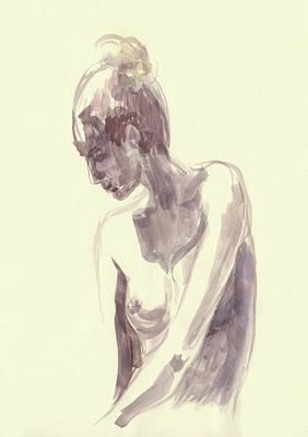 Painting - Nude Model Gesture Xlvi by Irina Sztukowski