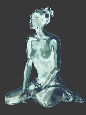 Painting - Nude Model Gesture Xlviii by Irina Sztukowski