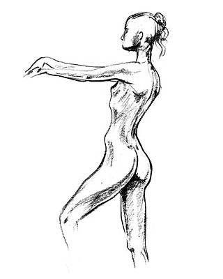 Abstract Drawings - Nude Model Gesture XVIII by Irina Sztukowski