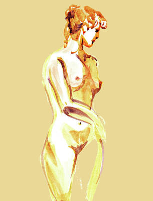 Painting - Nude Model Gesture Xxiii by Irina Sztukowski