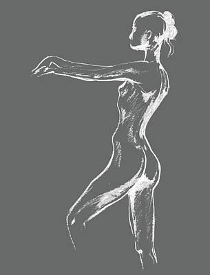 Abstract Drawings - Nude Model Gesture XXIX by Irina Sztukowski