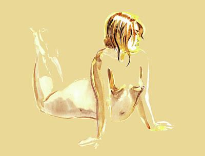 Nudes Paintings - Nude Model Gesture XXV by Irina Sztukowski