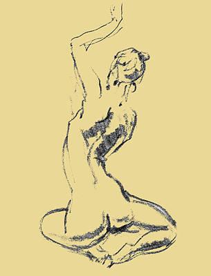 Abstract Drawings - Nude Model Gesture XXVI by Irina Sztukowski