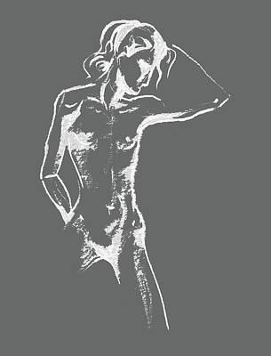 Abstract Drawings - Nude Model Gesture XXX by Irina Sztukowski