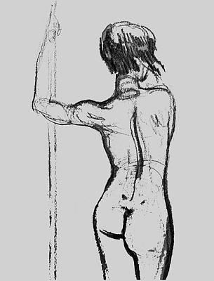 Drawing - Nude Model Gesture Xxxii by Irina Sztukowski