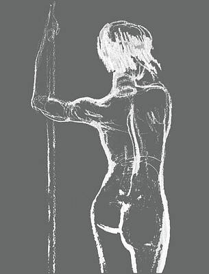 Nudes Paintings - Nude Model Gesture XXXIII by Irina Sztukowski