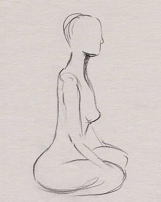 Abstract Drawings - Nude Model Gesture XXXV by Irina Sztukowski