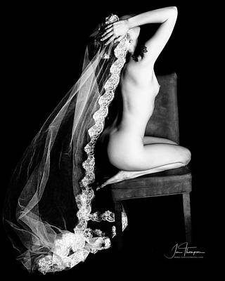 Photograph - Nude With Veil by Jim Thompson