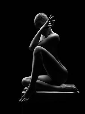 The Stinking Rose - Nude woman bodyscape 41 by Johan Swanepoel