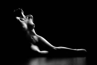Nude Photograph - Nude Woman Bodyscape by Johan Swanepoel