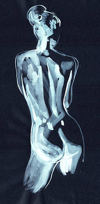 Painting - Nude Woman Model Gesture Watercolor Xxxvii by Irina Sztukowski