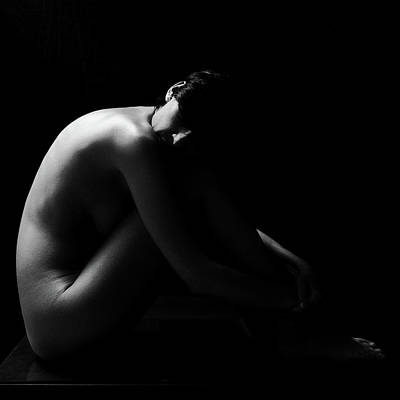 Photograph - Nude Woman With Back-lit by Javier Sánchez