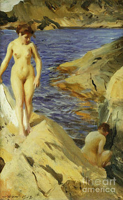 Painting - Nudes, Nakt, 1902 by Anders Leonard Zorn