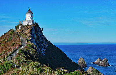 Photograph - Nugget Point Lighthouse 4 - Catlins - New Zealand by Steven Ralser