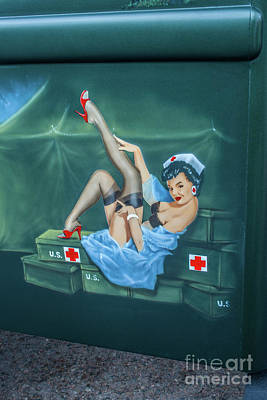 Photograph - Nurse Pinup Girl by Tony Baca