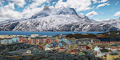 Photograph - Nuuk Scandinavian Panorama by Anthony Dezenzio