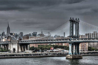 Photograph - Ny Bridge by Images Unlimited